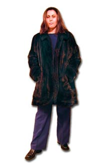 3/4 Length Mahogany Mink Coat
